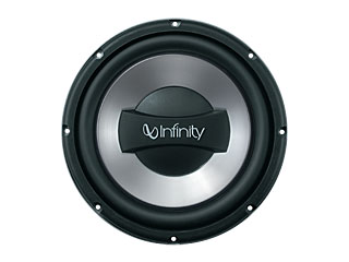 infinity 10 sub. high-efficiency polypropylene woofer cones - this lightweight and popular material is used to ensure maximum efficiency. the benefit high output infinity 10 sub a
