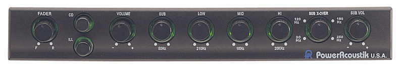 Power acoustik peq equalizer